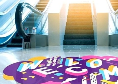 Floor Graphics Silver Leaf Signs